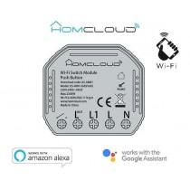 HomCloud AS-SBM1 Pulsante Wi-Fi intelligente da inserire nella 503 Compatibile con Amazon Alexa e Google Home.