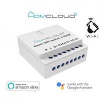 HomCloud AS-SM3 Interruttore Wi-Fi intelligente 3 canali da incasso.