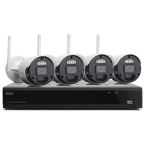 ISIWI CONNECT4 KIT VIDEOSORVEGLIANZA WIFI NVR 8CH + 4 IPCAM WIRELESS IP66