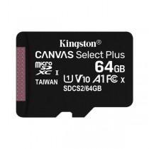 Kingston MicroSD 64 GB XC UHS-I Classe 10 Canvas Select Plus