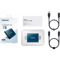 Samsung T5 500 GB SSD Esterno Portatile USB 3.1 Gen 2, Blu