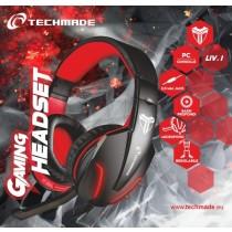 TECHMADE FL1 CUFFIE GAMING CON MICROFONO PER PC E CONSOLE