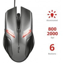 TRUST ZIVA MOUSE GAMING USB CON LUCI LED